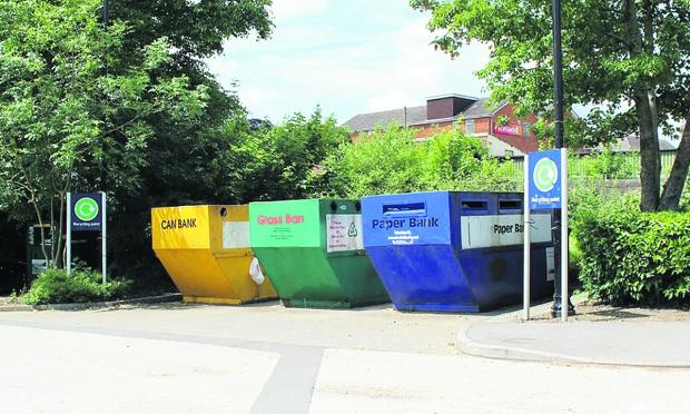 This Is Wiltshire: One of the mini recycling centres