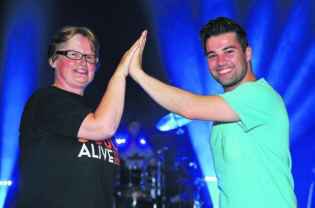 This Is Wiltshire: Julie Midwinter meets X Factor star Joe McElderry