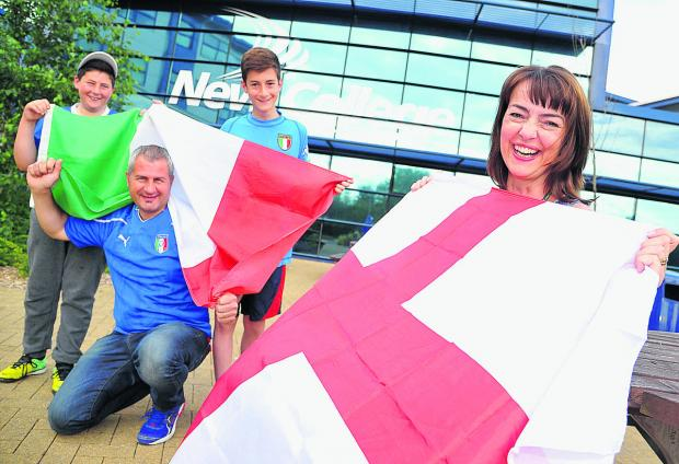 This Is Wiltshire: Displaying their allegiances – Christian, Gianni, Oliver and Karen Pau