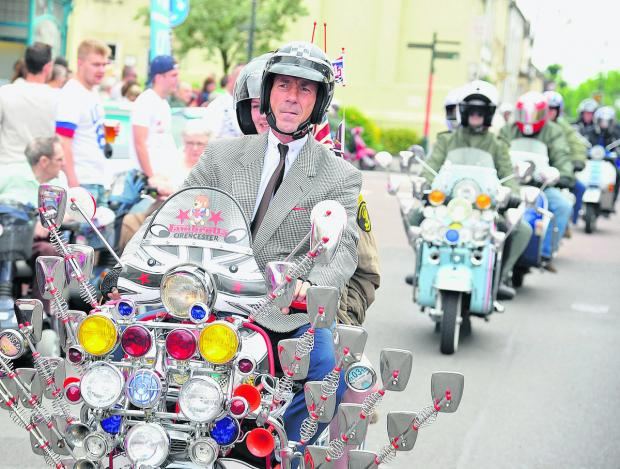 This Is Wiltshire: Sixties theme adds splash of colour to annual festival