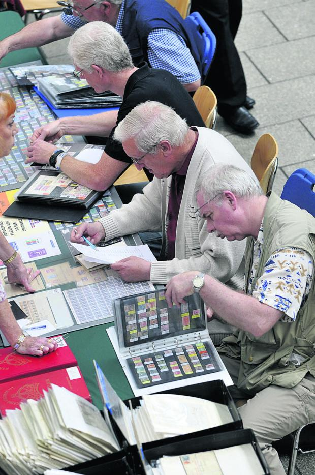 This Is Wiltshire: The 25th annual Swinpex Stamp and Postcard Fair. Picture: DAVID MORRISON
