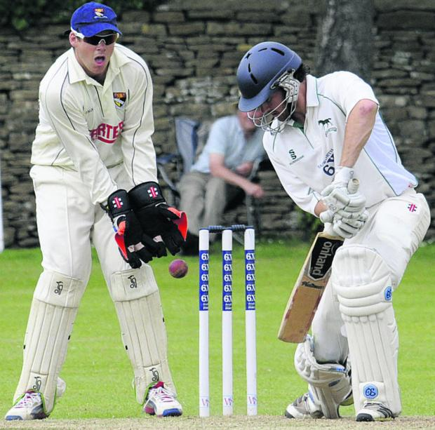 This Is Wiltshire: Wiltshire's Ed Young in batting action during yesterday's quarter final
