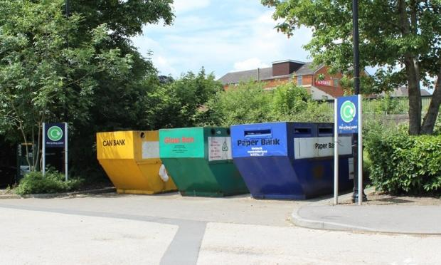 This Is Wiltshire: The mini-recycling site at The Pippin, Calne