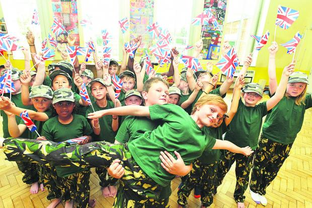 This Is Wiltshire: The Lyneham Primary School pupils who were runners-up in the Great Big Dance Off. Picture: THOMAS KELSEY