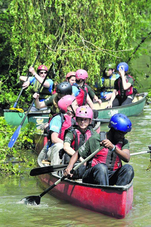 This Is Wiltshire: Canoeing is just one of the physical challenges faced by the youngsters during the Youth Adventure Trust programme intended to foster self