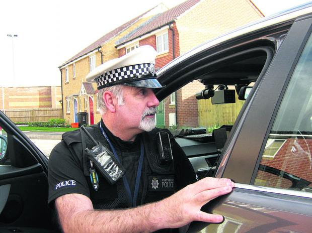 This Is Wiltshire: A driver is stopped by Wiltshire Police for a motoring offence