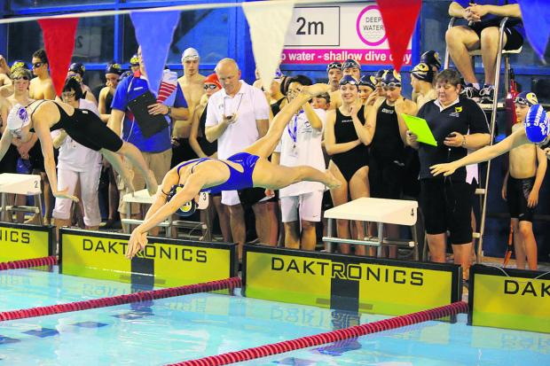 This Is Wiltshire: A Wiltshire league swimming meeting being held at the Link Centre