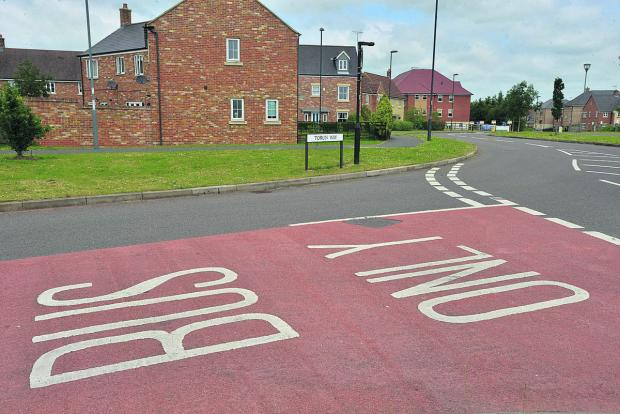 This Is Wiltshire: A bus lane in Torun Way in Swindon