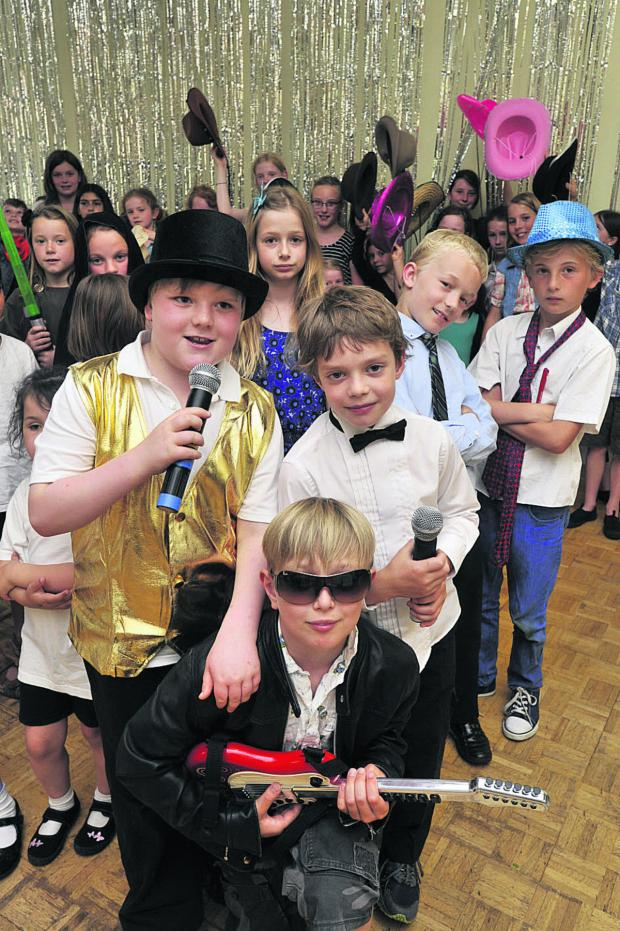 This Is Wiltshire: Acts gather for the talent show. Photo: Glenn Phillips (49500-1)