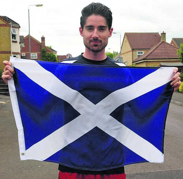 This Is Wiltshire: David Bishop, from Chippenham, has been selected to run the 1500m for Scotland at next month's Commonwealth Games Picture by Vicky Scipio (VS414-3)