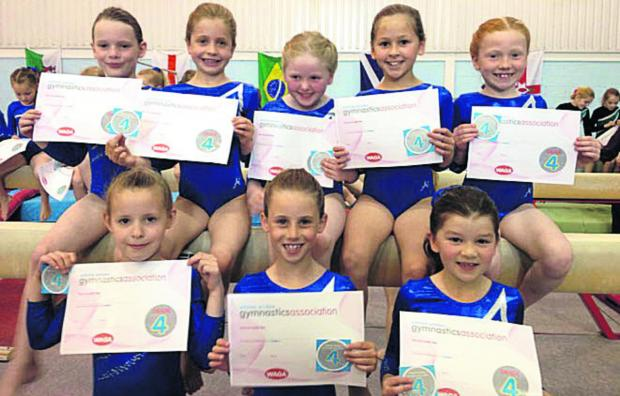 This Is Wiltshire: Moonrakers' grade four gymnasts at the Wiltshire Grades event