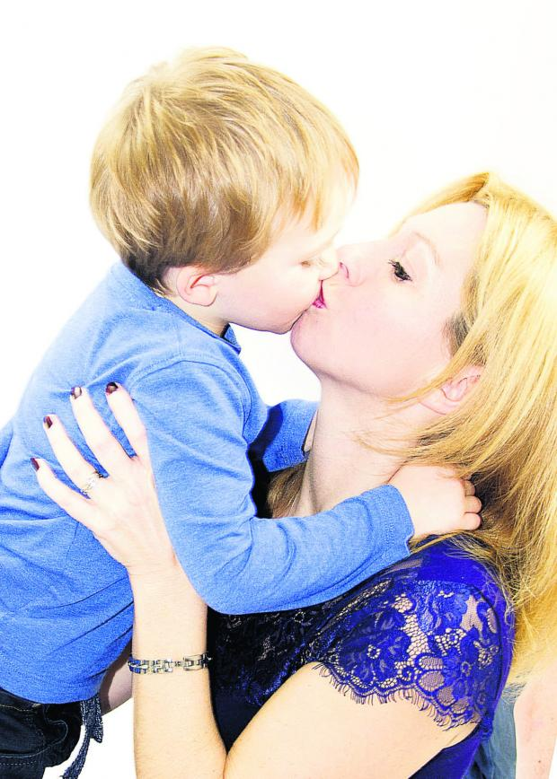 This Is Wiltshire: Ann-Marie Burgess with her son Finley, four