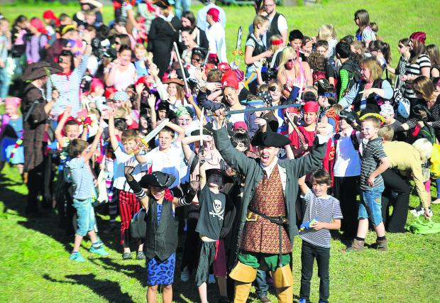 This Is Wiltshire: A bucaneering bonanza of pirates as part of Chiseldon primary school's special walk to school, travelling through time, project