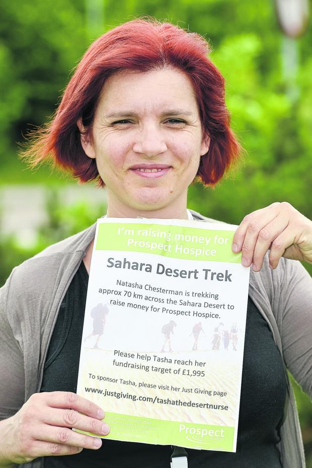 This Is Wiltshire: Natasha Chesterman is facing the baking hot sands of the desert for a five day trek in the Sahara to help raise money for Prospect