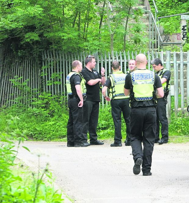 This Is Wiltshire: Police at the scene of the incident last June