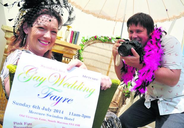 This Is Wiltshire: Eve Pocock and Anthony Porter, who are setting up Manorwell Events, Swindon's first gay wedding fair