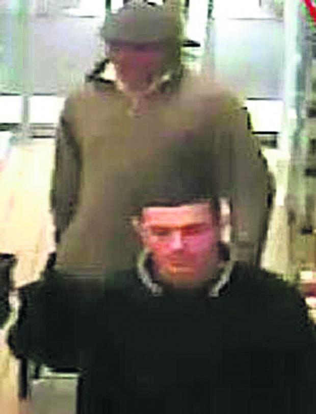 This Is Wiltshire: CCTV footage of the men police would like to speak to