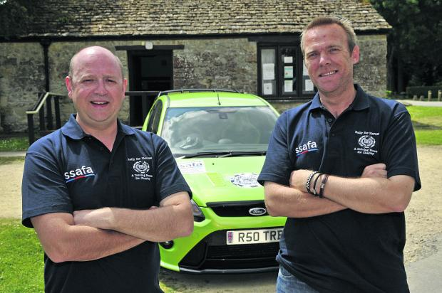 This Is Wiltshire: From left, Tim Birks snd Darren Hand, who are taking part in the Rally For Heroes