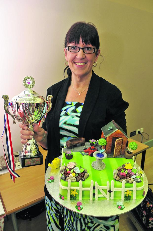 This Is Wiltshire: Emma Pearse with her garden cake