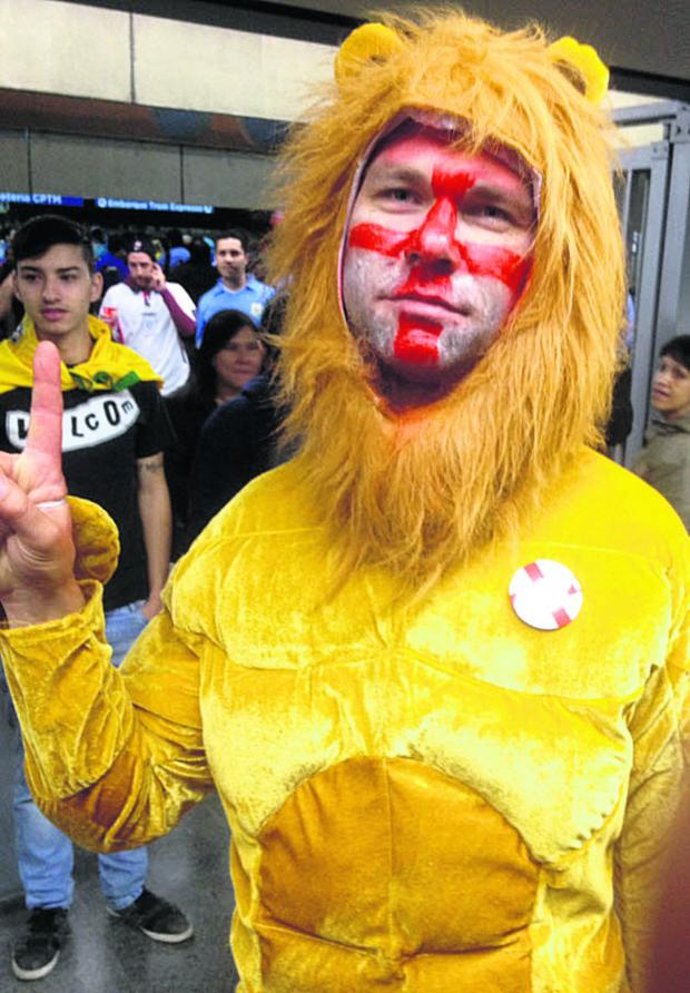 This Is Wiltshire: Lion hearted, but England fans seemed to lack their voice for the match against Uruguay says our blogger, Justin Cook