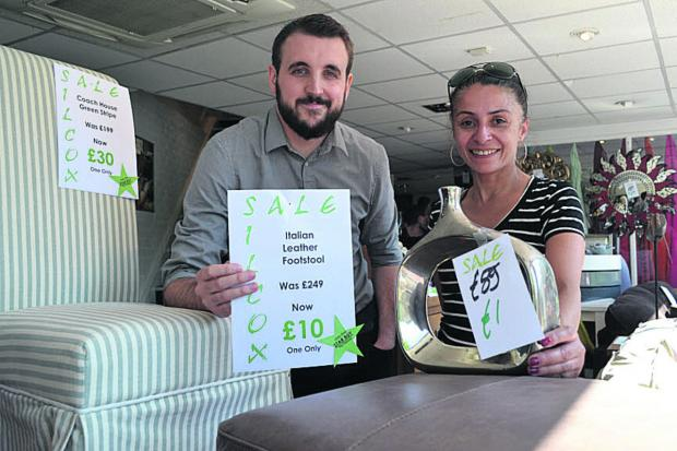 This Is Wiltshire: Former Frome residents Kevin and Maya Hendy snap up bargains at Silcox Son and Wicks