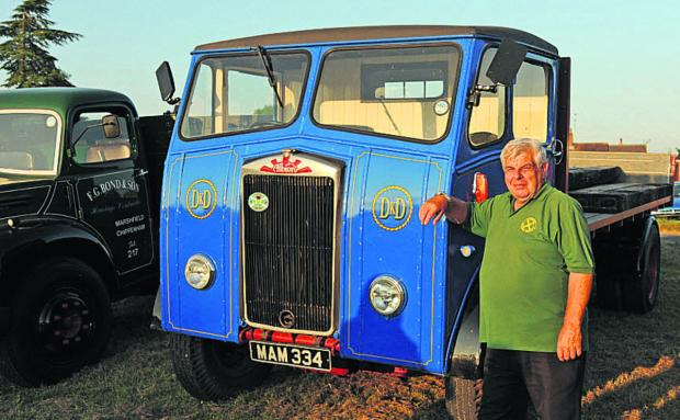 This Is Wiltshire: Keith Day, from Poulshot, was exhibiting his 1955 Albion lorry that spent its working life as one of the delivery lorries of Sainsbury corn merchants in Trowbridge. Pictures by Trevor Porter