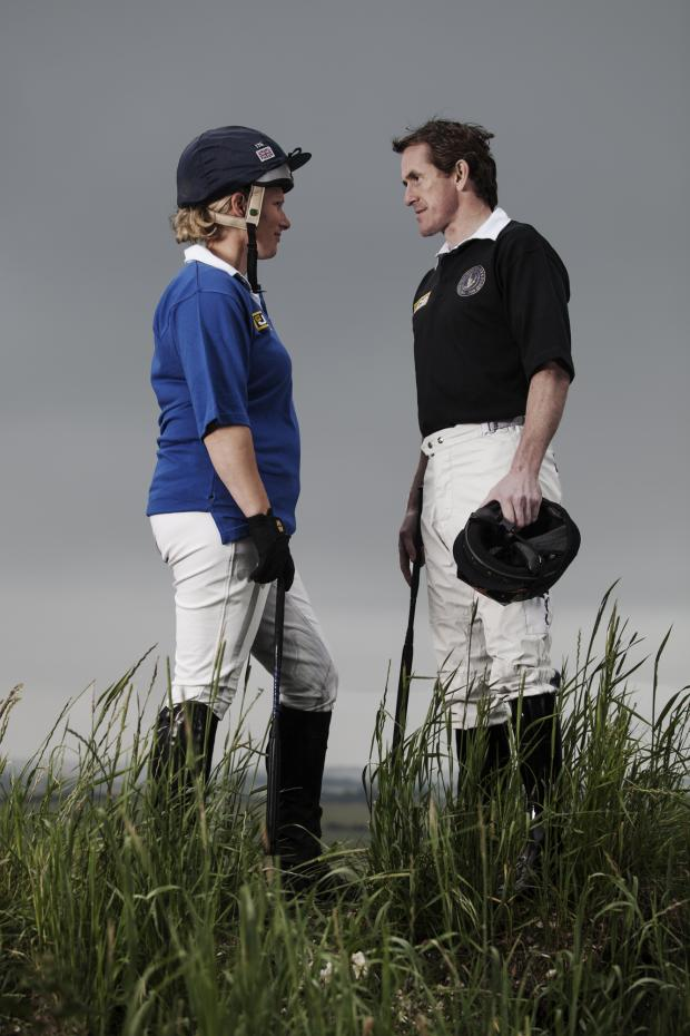 This Is Wiltshire: Zara Phillips and AP McCoy will lead their teams in the JCB Champions Challenge (Picture by Niels van Gijn)