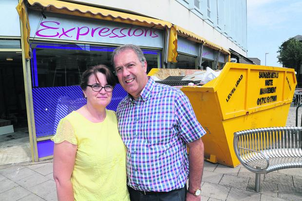 This Is Wiltshire: Tracey and Chris Bryant outside the store