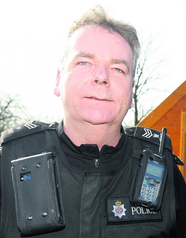 This Is Wiltshire: Sergeant Phil Connor, of Chippenham neighbourhood policing team