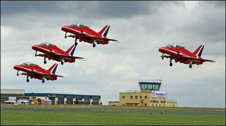 This Is Wiltshire: The Red Arrows take off