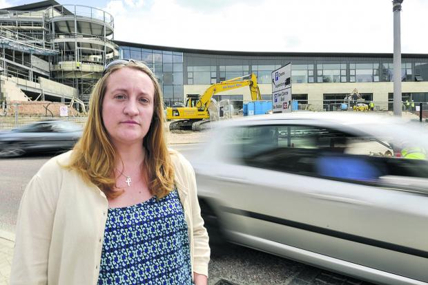This Is Wiltshire: Clare Agates is among those concerned by traffic issues at the Regent Circus development