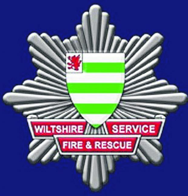 This Is Wiltshire: Firefighters tackled the blaze