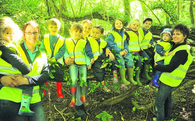 This Is Wiltshire: Hilmarton pre-schoolers are learning about making dens getting out and about with their forest school every Tuesday
