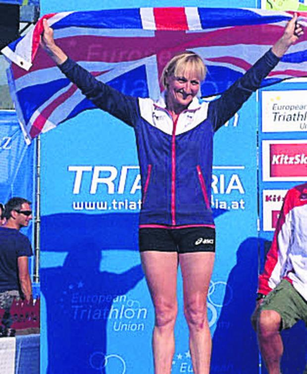 This Is Wiltshire: Jane Hansom picked up a silver medal at last weekend's European Triathlon Championships in Austria