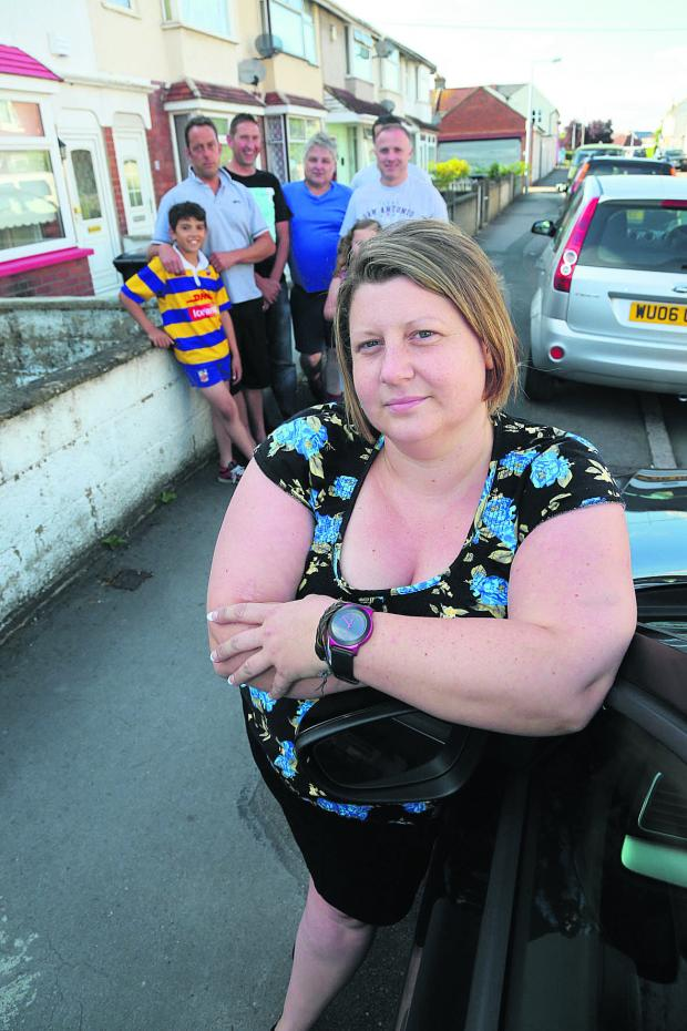 This Is Wiltshire: Beck Watts and other residents in Cobden Road