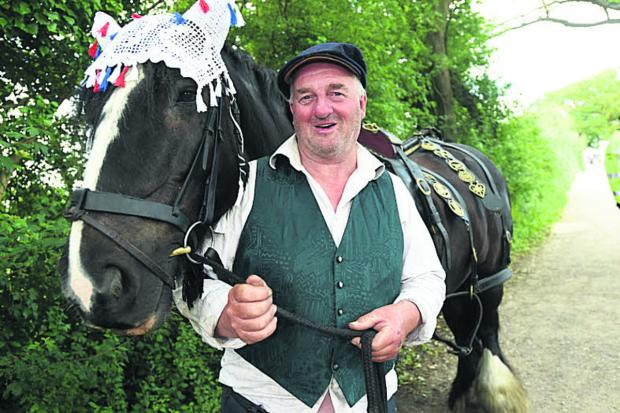 This Is Wiltshire: Phil Newbury with his shire horse, Frankie