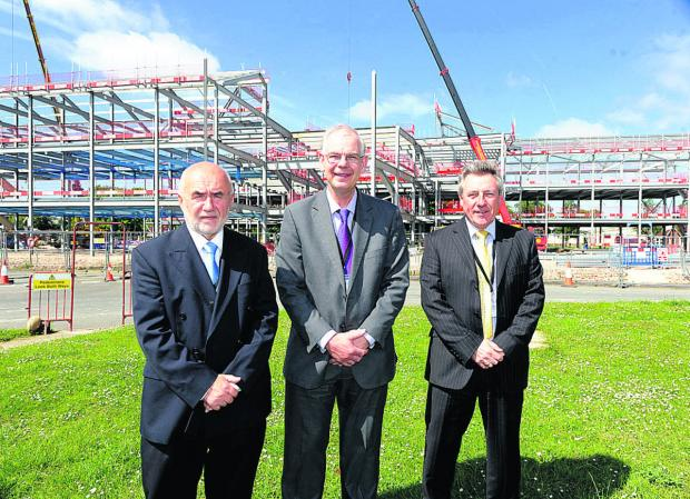 This Is Wiltshire: Construction team, from left, business development manager Stefan Barbaruk, project director Roger Frost and Steve Blower, the MD of MJ Church     						    (pm1314) By paul morris