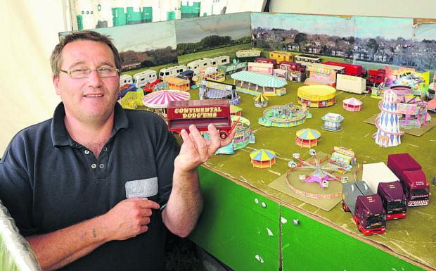 This Is Wiltshire: Phil Burgess with his funfair collection