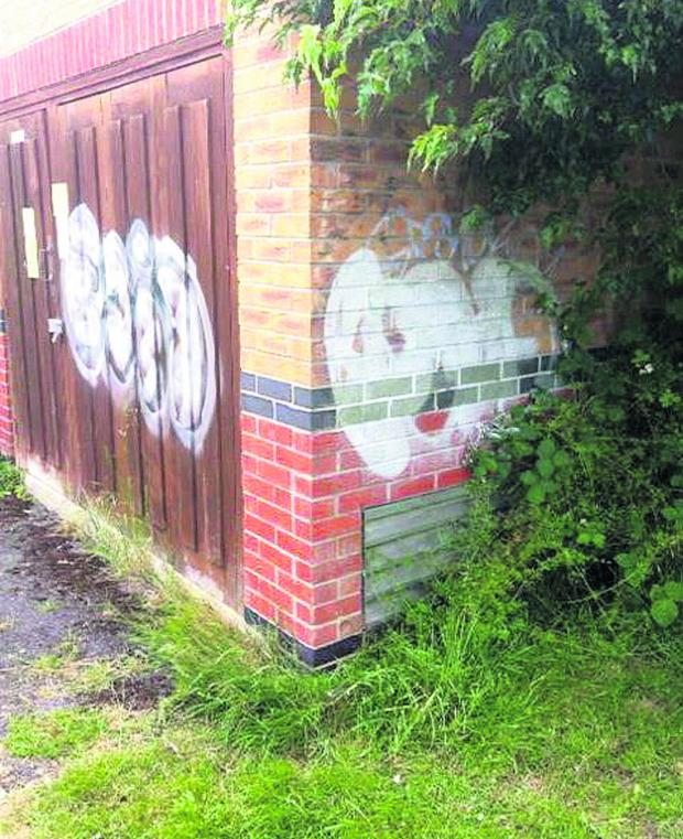 This Is Wiltshire: A new graffiti tag in North Swindon, which is  being investigated by police