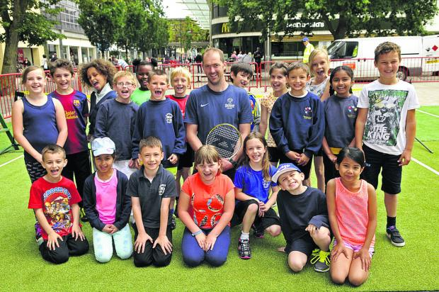 This Is Wiltshire: Youngsters get in the swing of tennis