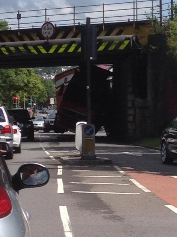 This Is Wiltshire: Lorry hits bridge in Wootton Bassett Road...again