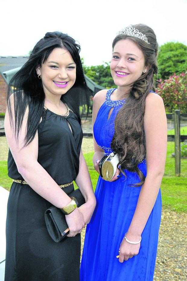 This Is Wiltshire: Kelsey Cartwright and Tia Carr arrive for the party