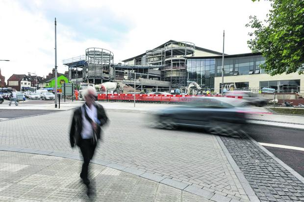 This Is Wiltshire: Concerns have been raised over pedestrian crossings at the new Regent Circus complex. Picture: THOMAS KELSEY