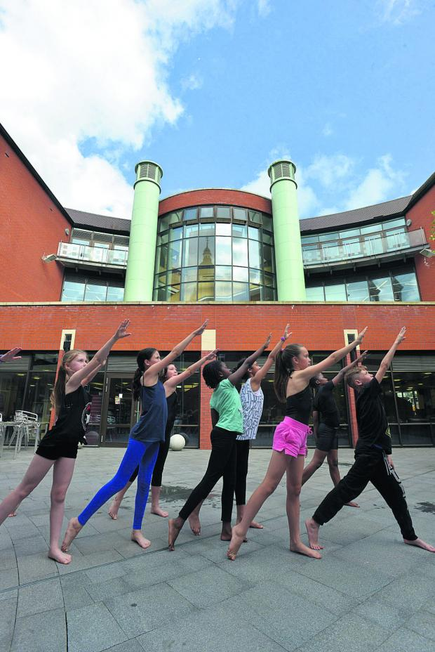 This Is Wiltshire: Swindon Dance perform outside the central library