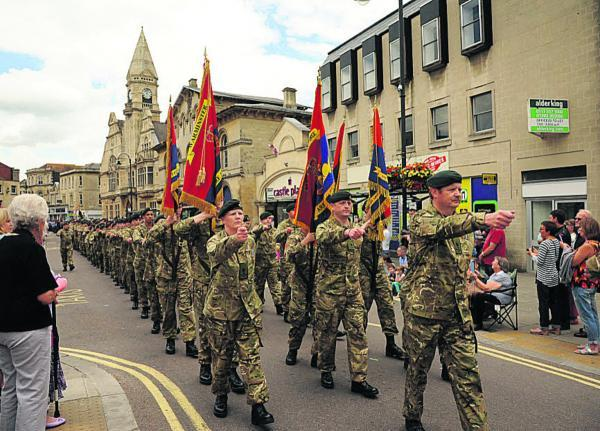 This Is Wiltshire: Army Cadets parade through the town yesterday. Picture by Trevor Porter