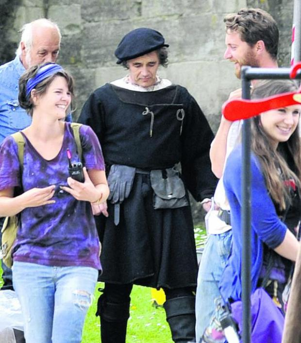 This Is Wiltshire: Mark Rylance plays Thomas Cromwell in the BBC production of Wolf Hall, part of which is being filmed in Bradford on Avon. Picture by Glenn Phillips