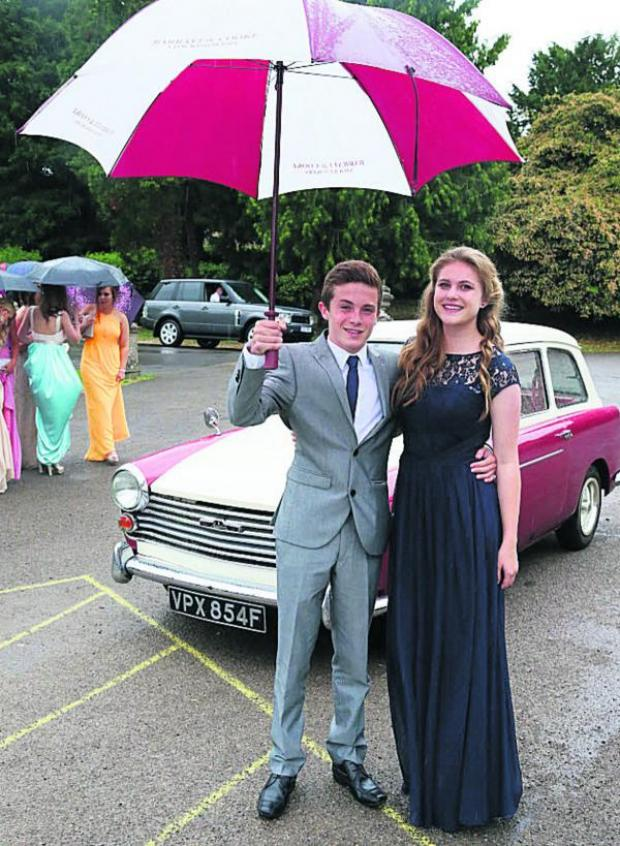 This Is Wiltshire: Jeremy Anderson and Polly Druce at the Hardenhuish School Year 11 prom