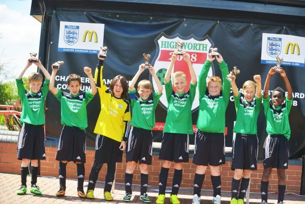 This Is Wiltshire: Greenmeadow Under 11s celebrate