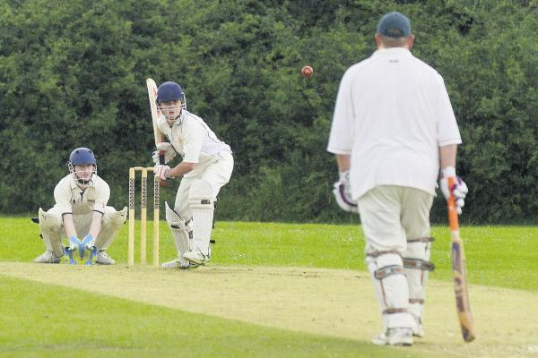 This Is Wiltshire: James Johnstone of Swindon Civil Service in action against Malmesbury