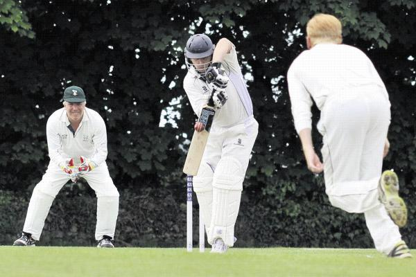 This Is Wiltshire: Former New Zealand international Michael Papps was Ed Clatworthy's second victim on Saturday